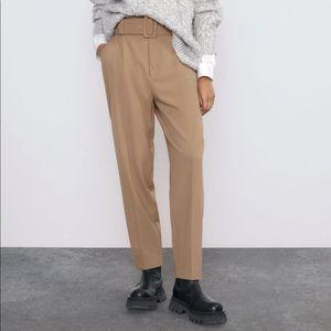 NWT Zara Belted Pants